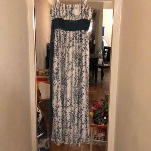 NWT BCBG silk floor length dress